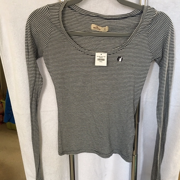 28041d564 Hollister Tops | Striped Tight Long Sleeve Top | Poshmark